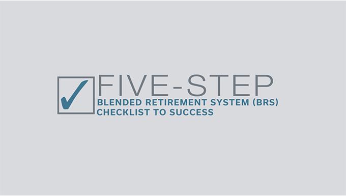 Blended Retirement System Checklist