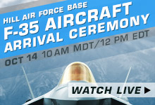 F35 aircraft arrival ceremony at Hill Air Force Base